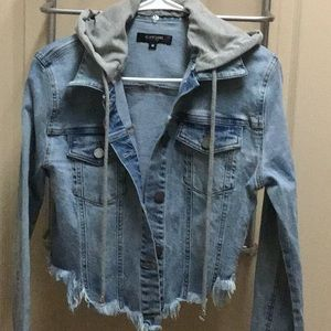 Super cute distressed Jean jacket